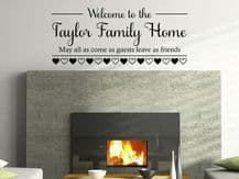 "PERSONALISED Wall Sticker ""Welcome To The..."" Family Customised Decal Transfer"